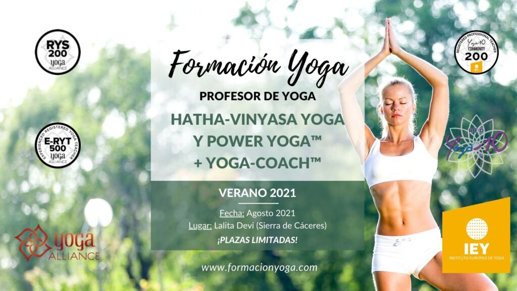 PROFESOR DE YOGA - HATHA-VINYASA YOGA y POWER YOGA™ + YOGA-COACH™ - 2021